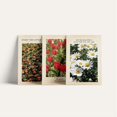 a4 flower poster(3type)