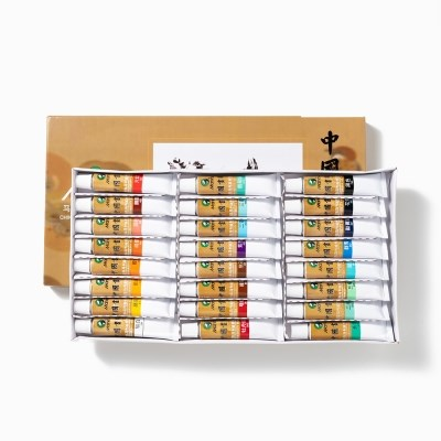 전문가용 민화 동양화 물감 12ml 12색 18색 24색 36색