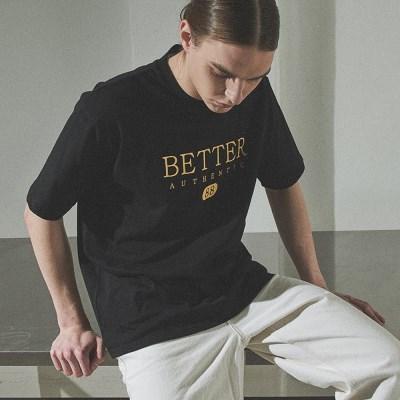 [베러댄88] 1112VB 헤리티지 로고 티셔츠 밴타블랙