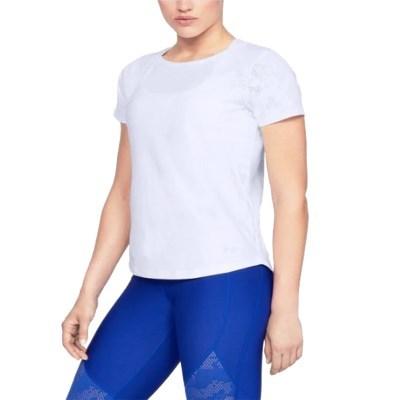 SU_언더아머 여성용 반팔 티셔츠 운동복 요가복 UA베니시 메쉬 카모