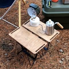 홀러 접이식 미니스툴 캠핑 테이블