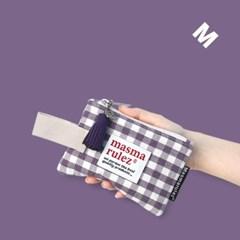마약 스트랩 파우치 스프링 미니 _Purple