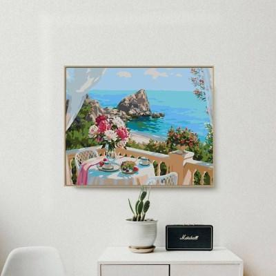해변보이는 테라스 DIY명화그리기 유화그리기세트_(2565180)