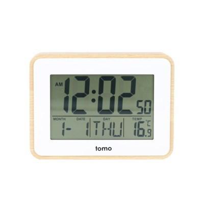 [Tomo]토모 우든 LCD 탁상시계 / 알람 시계_(1581964)