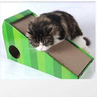 고양이 스크레쳐 슬로프 장난감 골판지 미묘 스크래쳐