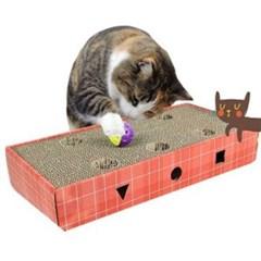 고양이 스크레쳐 딸랑 장난감 골판지 미묘 스크래쳐