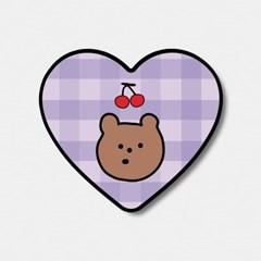 체크 line cherry gummy 하트톡♥_(1036466)