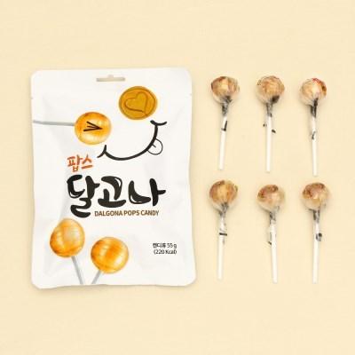 달고나 팝스 막대사탕 55g (6개입)_(2094522)