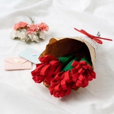 율아트 펠트 카네이션 꽃다발 만들기 세트