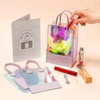 PVC 홀로그램 가방 비치백 투명가방 만들기