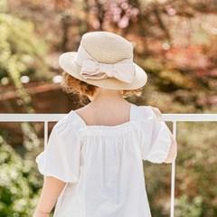 채니봉봉 델루나 밀짚모자 유아여름모자