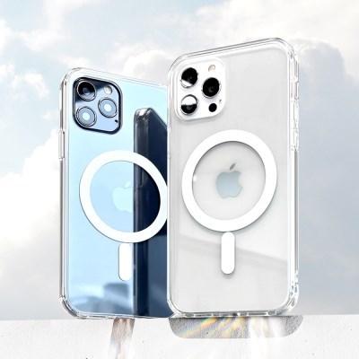 맥세이프 투명 클리어 폰케이스/카드지갑/아이폰12 미니/프로/맥스