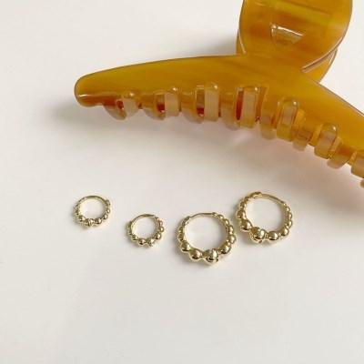 제로 원터치 링 귀걸이 (2colors)