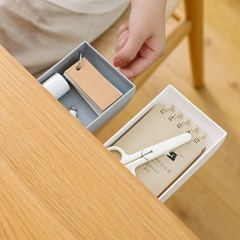 틈새수납장 붙이는서랍 접착식 슬라이드 수납함 3개