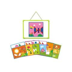 [그린키즈] 연두팡 도형 자석 퍼즐 - 창의력