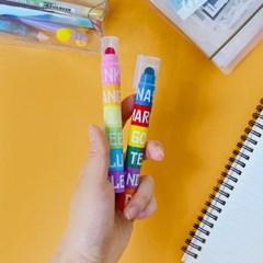 블럭 고체형광펜 비비드 네온 2개타입