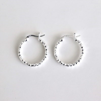 [Silver925] Twinkle cutting ring earring_(1546066)