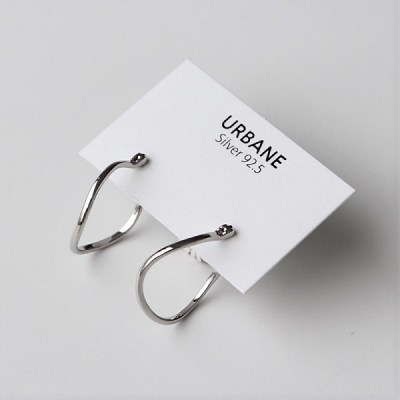 [Silver925] Curve ring earring_(1543657)