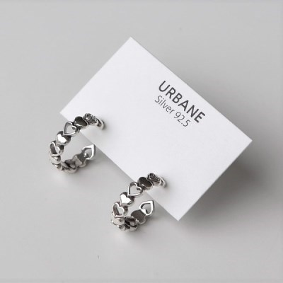 [Silver925] Antique heart ring earring_(1543650)