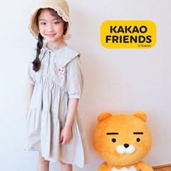 카카오프렌즈 여아 3단카라 원피스(베이지) KKF-0930