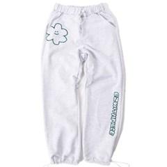 [EZwithPIECE] DAISY SWEAT PANTS (WHITE MELANGE)_(401264795)