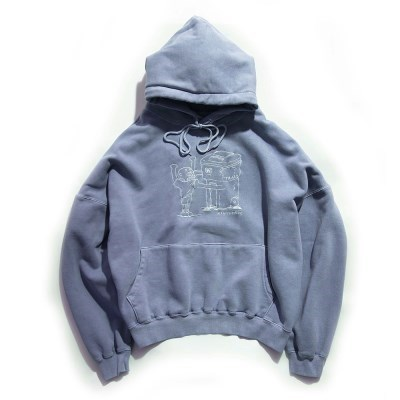 [EZwithPIECE] PIG DYED TRASHMAN HOODIE (NAVY)_(401264787)
