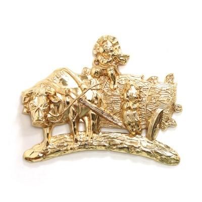 (kspz373)황소와 오누이 벽장식품 금_(1625415)