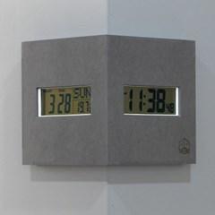 (ktk180)디지털 코너시계 (그레이)_(1625406)