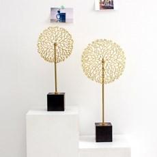 나뭇가지 태양 골드 금속 장식품