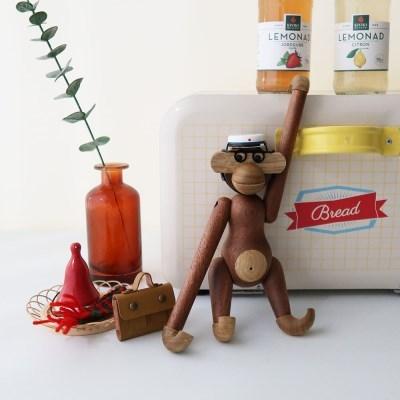 북유럽 우드 원숭이 인형과 액세서리 5종