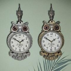 고급 수리부엉이 저소음 회전 큐빅 벽걸이 시계 개업 선물
