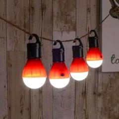 아웃도어 LED 캠핑등 4p(레드) 차박 캠핑무드등