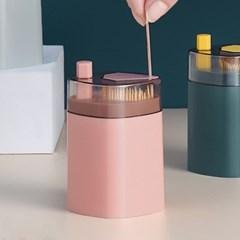 리빙나우 원터치 이쑤시개통 5p세트 요지케이스 핑크