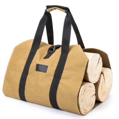 감성폭발 캠핑 장작 통나무 수납 보관 캔버스 가방