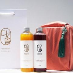 다솔 수제 과일 시럽 선물용 보자기 포장 2종 세트
