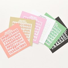 RiCO FONT WATER STICKER - COZY 6type