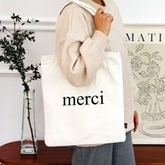 MERCI 메르시 프랑스 파리 감성 에코백 (2color) 커플템 추천!