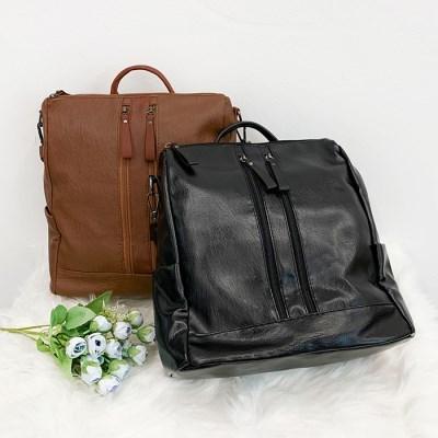 뎁스 레더 숄더 백팩 여성가방