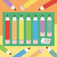[또자] 연필 씰스티커(4장)