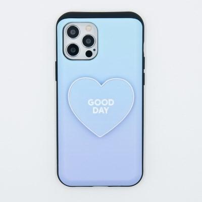 코이트 Good Day 아이폰 하트 범퍼톡 카드슬라이드범퍼 케이스