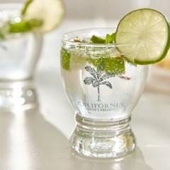 캘리포니아 야자수 유리컵
