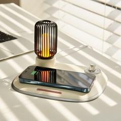 뮤란드 C3 2in1 LED 인테리어 무드등 15W 고속 무선충전기