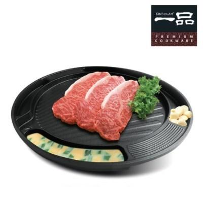 인덕션용 계란찜 그릴팬 삼겹살 고기굽는팬 고기불판 가_(715471)