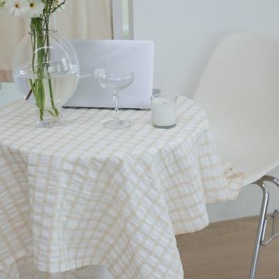 온더브리즈아이보리 식탁보 테이블보 135x135cm 테이블러너
