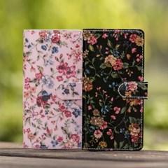 갤럭시A9프로(G887) Jardin_Flower 다이어리 지갑케이스