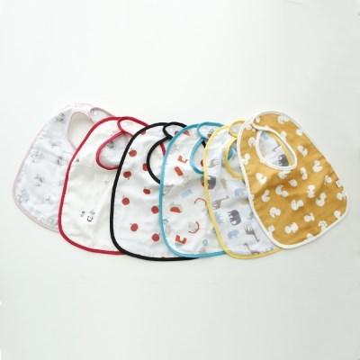 꿈두부 핸드메이드 초기이유식턱받이 준비물 패턴이중거즈 6종모음