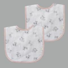 꿈두부 패턴거즈 느릿느릿코알라 턱받이 2개세트 아기 면침받이