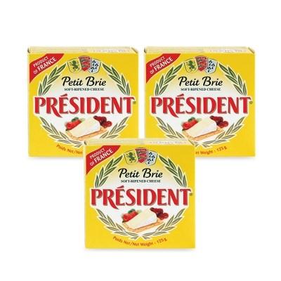 [프레지덩] 브리쁘띠 치즈 125g x 3개_(978477)