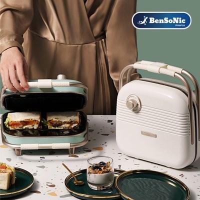 벤소닉 레트로 3in1 와플 메이커 HY-6602 샌드위치 도너츠