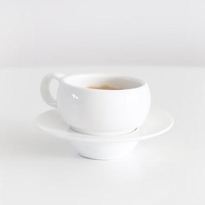 화이트 동글이 굽 에스프레소잔 뚱굽이 커피잔